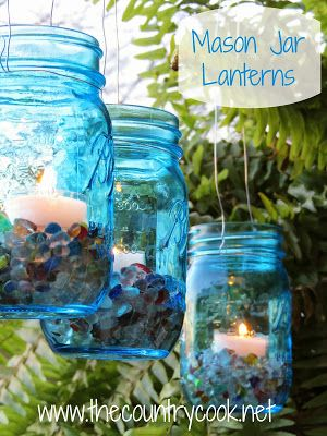 Mason Jar hanging Lanterns