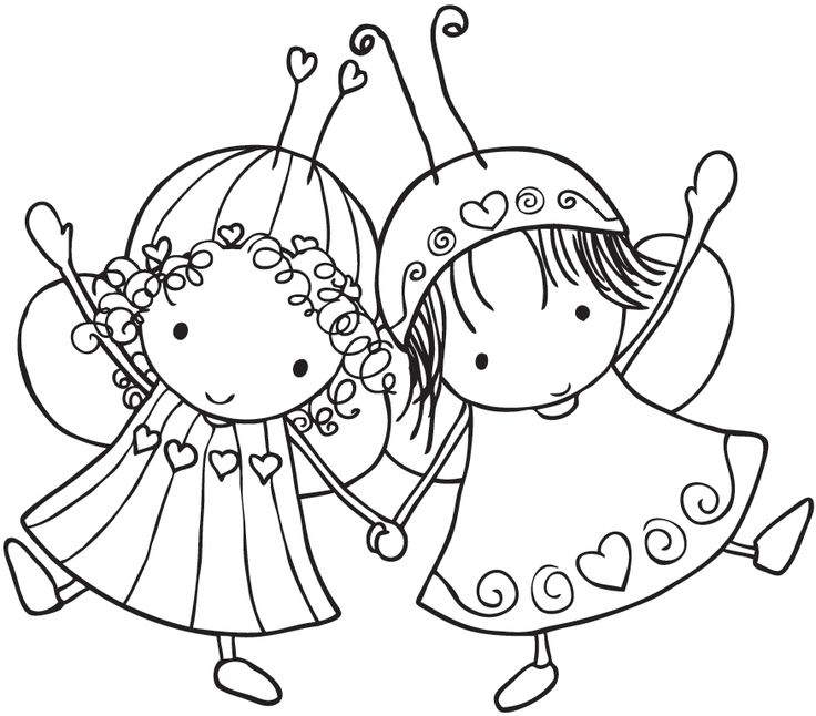 Stamping Bella Unmounted Rubber Stamp-Bffabuggs