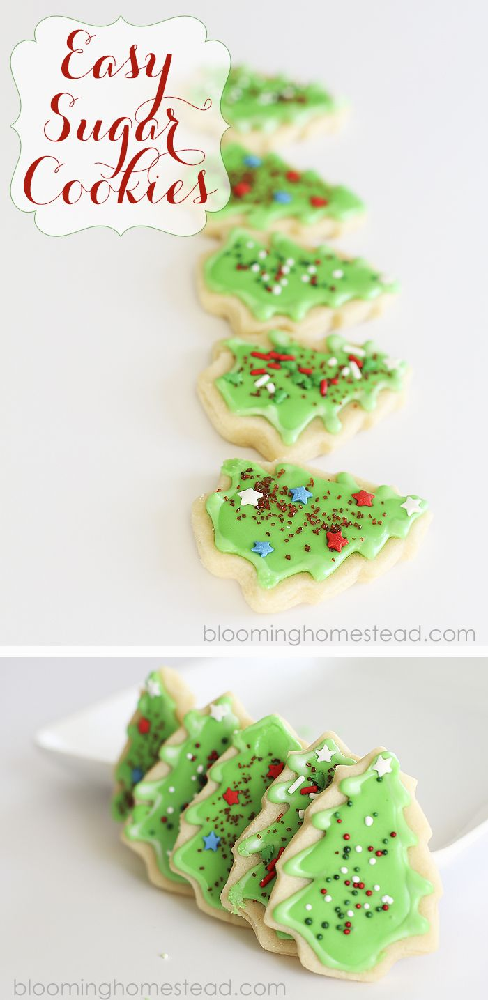 Easy and Delicious Sugar Cookie Recipe- perfect for those times when you want to make sugar cookies but don't want the hassle of difficult recipe.