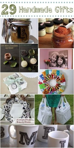 29 DIY Gift Ideas. Great resource for handmade gift ideas.