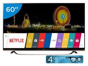 """Aproveite essa #oferta e garanta o #presente do #Diadospais ! Smart TV LED 60"""" LG 4k/Ultra HD 3D UF8500 - WebOS Conversor Digital Óculos Wi-Fi 3 HDMI 3 USB"""