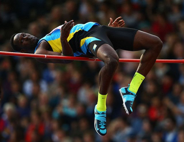 Donald Thomas of Bahamas competes in the Men's High Jump Final