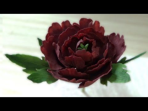 Пион из Мастики. Сахарные цветы / Peony of Mastic. Sugar flowers - Я - ТОРТодел! - YouTube