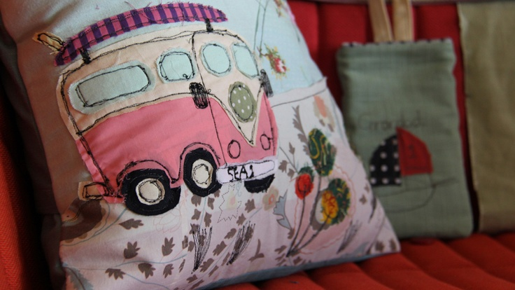 Cushion embroidery