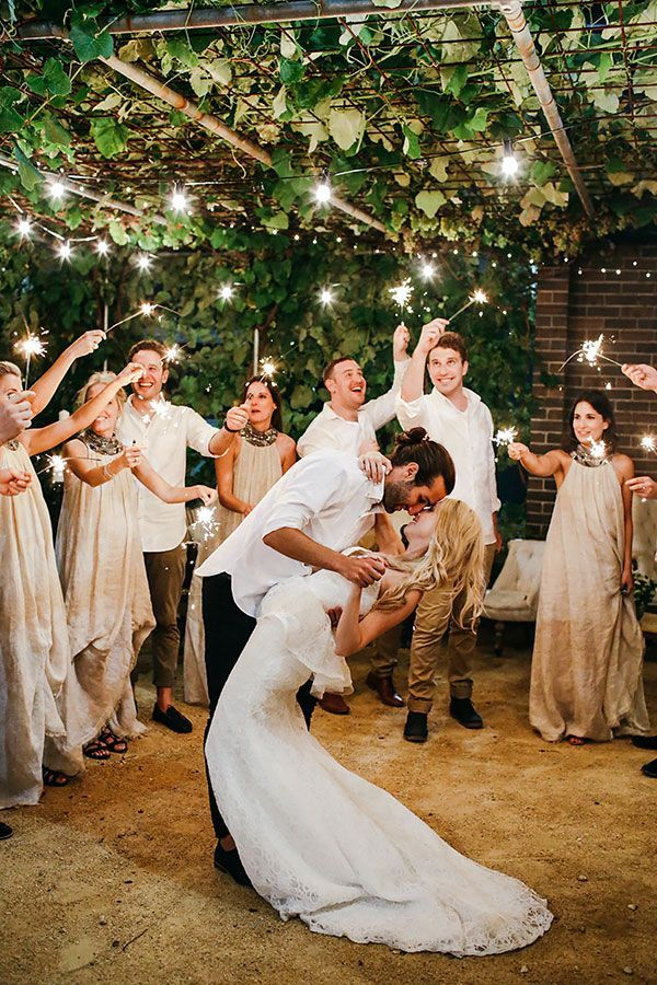 Wedding photography ideas with sparklers