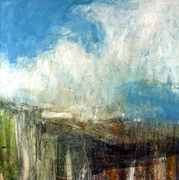 Lewis Noble Rain breaking through, 100x100cm, oil on canvas