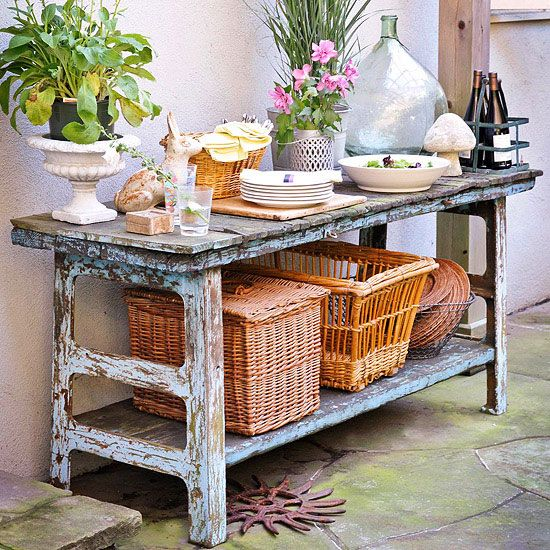 Outdoor buffet table storage woodworking projects plans