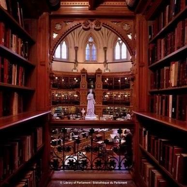 Library of Parliament, Ottawa, Canada.