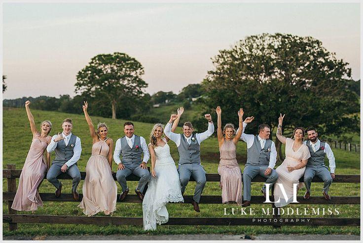 Bridal Party Fun at Maleny Manor - Sunshine Coast // Wedding DJ G&M Event Group #GMEventGroup #DJBrianDavis #Wedding #SunshineCoastWedding