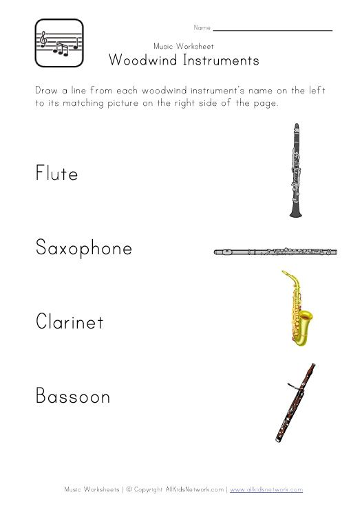 woodwind instruments worksheet | Music Education ...