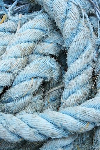 Rustic blue sailing ropes!!!!