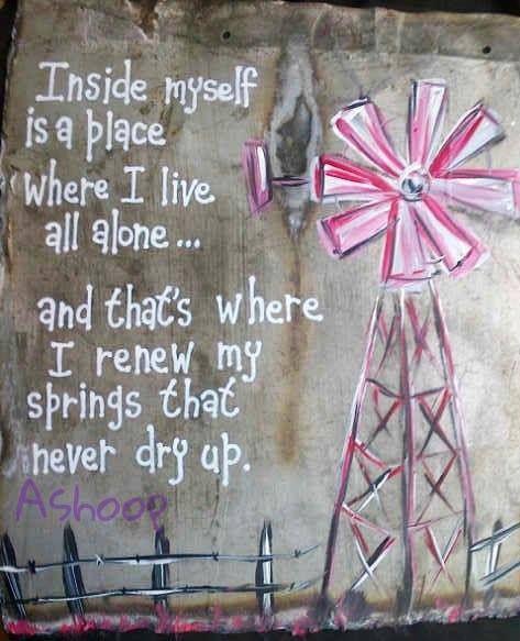 inside myself...