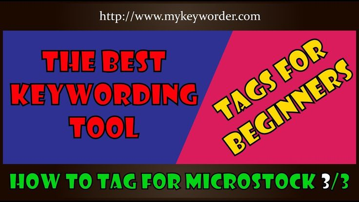 Automatic keyword and tags for vector illustration and photos
