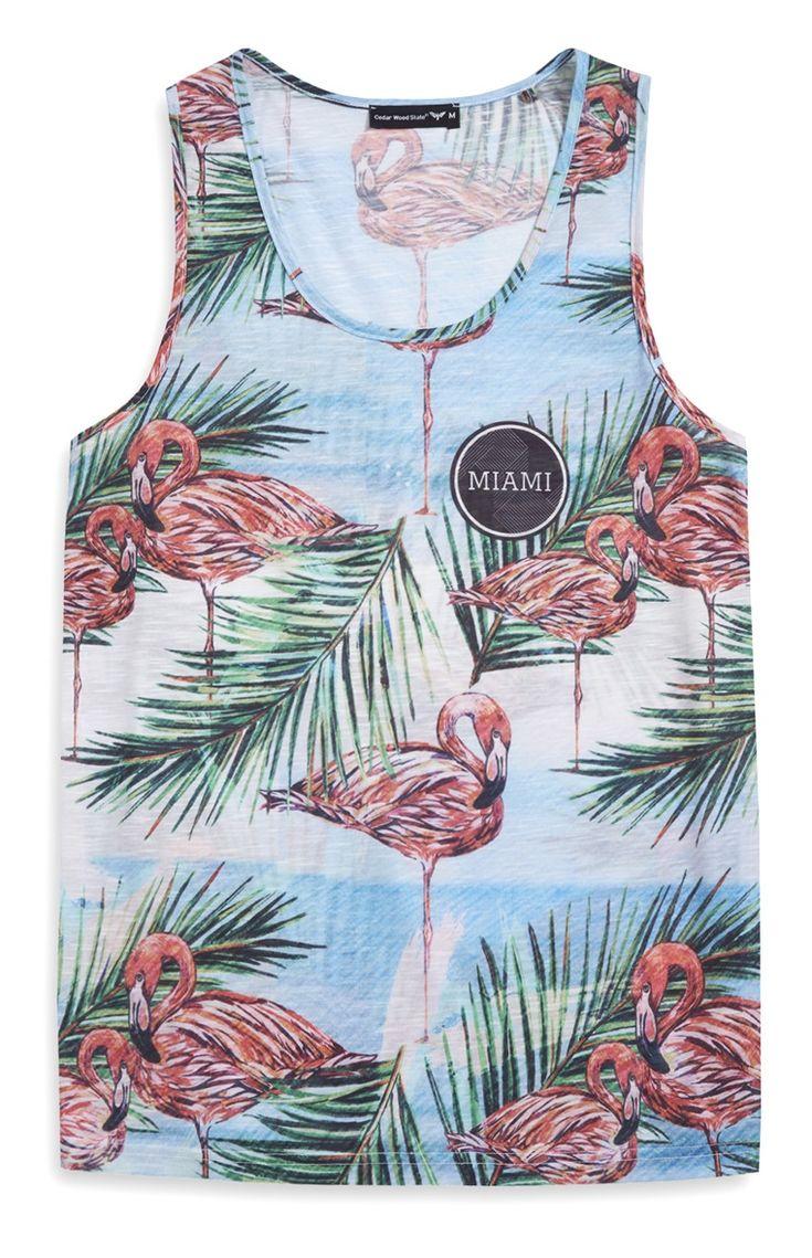 Blue Flamingo Vest