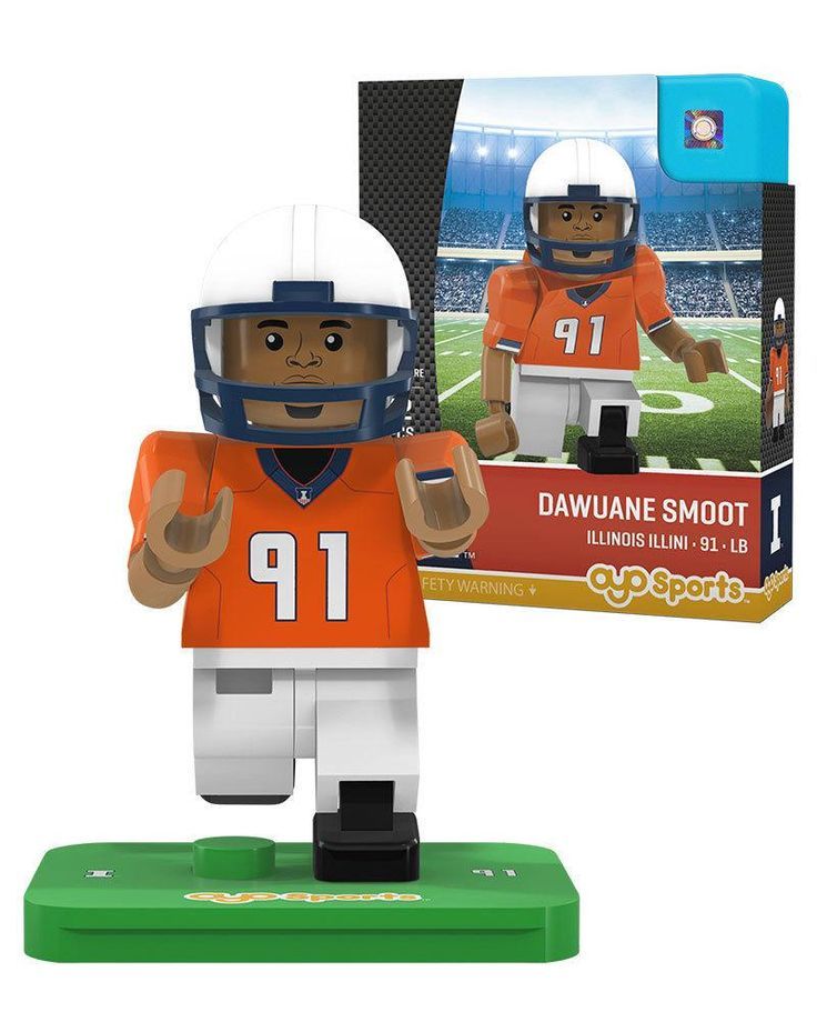DAWAUNE SMOOT #91 ILLINOIS FIGHTING ILLINI OYO MINIFIGURE NEW SHIPPING
