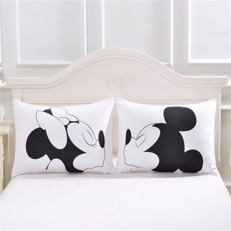Mickey mouse Corazón Cuerpo Funda de Almohada de Algodón Textiles Para El Hogar ropa de Cama de Almohada Regalo del Día de San Valentín 2 Unids/par 50 cm x 75 cm 50cmx90 en Fundas de Almohada de Hogar y Jardín en AliExpress.com | Alibaba Group