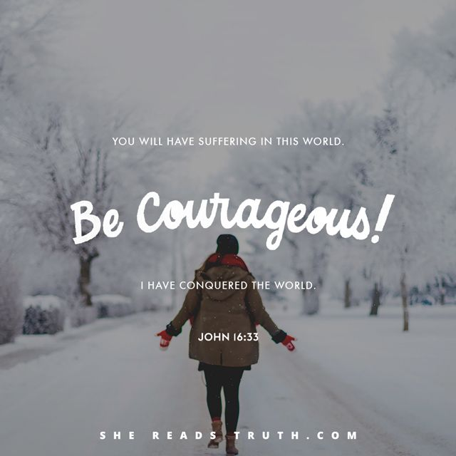 """Day 22 of the Bible-reading plan """"John: Come and See"""" from She Reads Truth. ~ Jesus the Conqueror ~ Today's Text: John 16:1-33, Isaiah 32:14-18, Romans 8:12-17 [...]"""