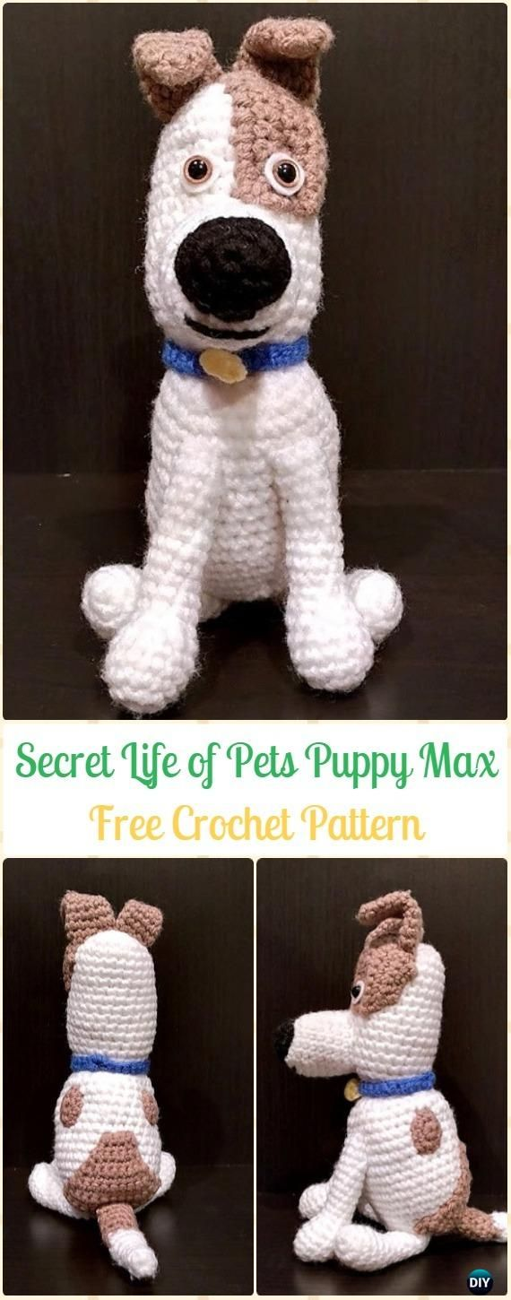 Crochet The Secret Life of Pets Puppy Max Free Pattern - Amigurumi Puppy