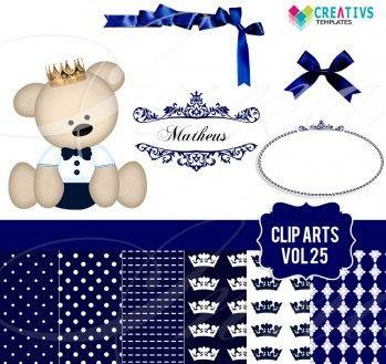 Clip Artes Urso Príncipe vol:25