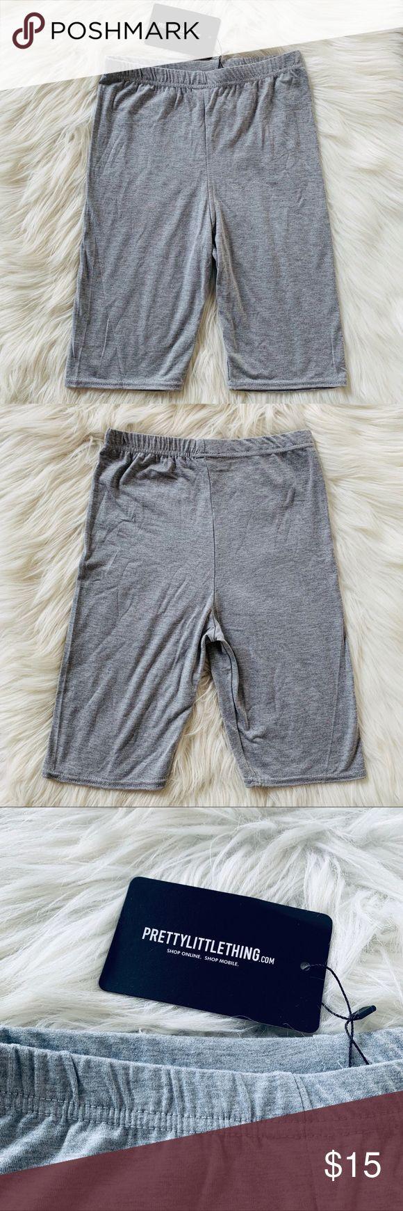 PrettyLittleThing Grey Biker Shorts •Brand: PrettyLittleThing •Purchased fro…   – My Posh Picks