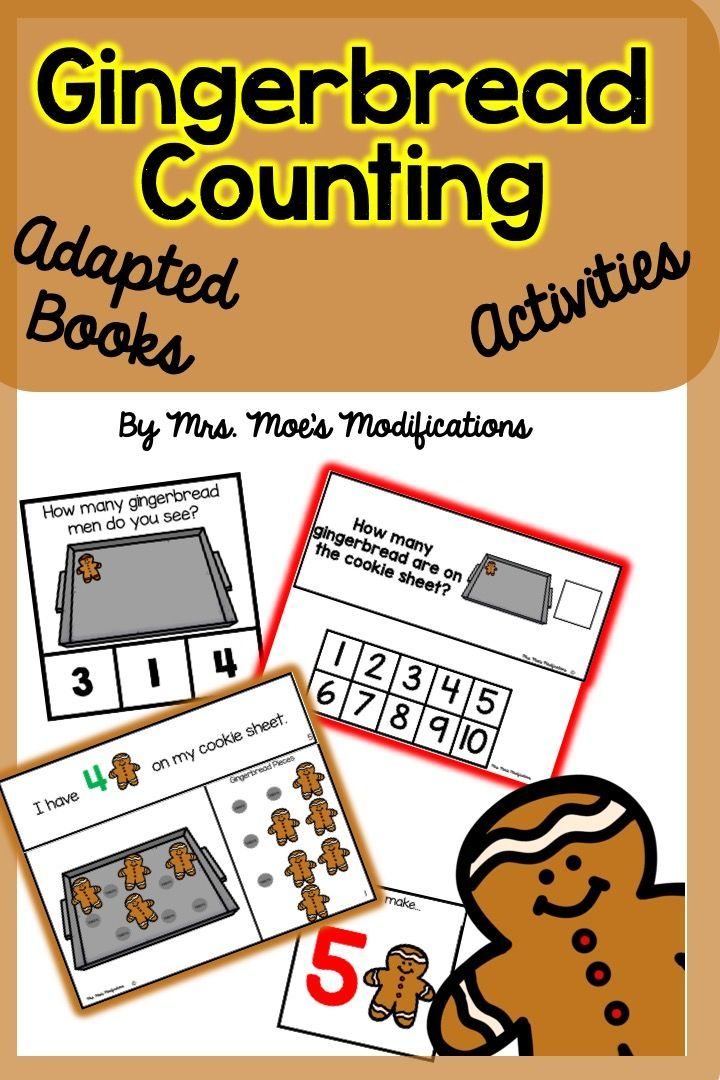 Gingerbread Counting Adapted Book and Activities