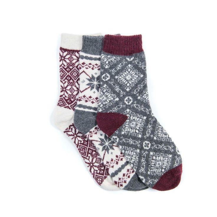 Women's 3 Pair Pack Holiday Boot Socks