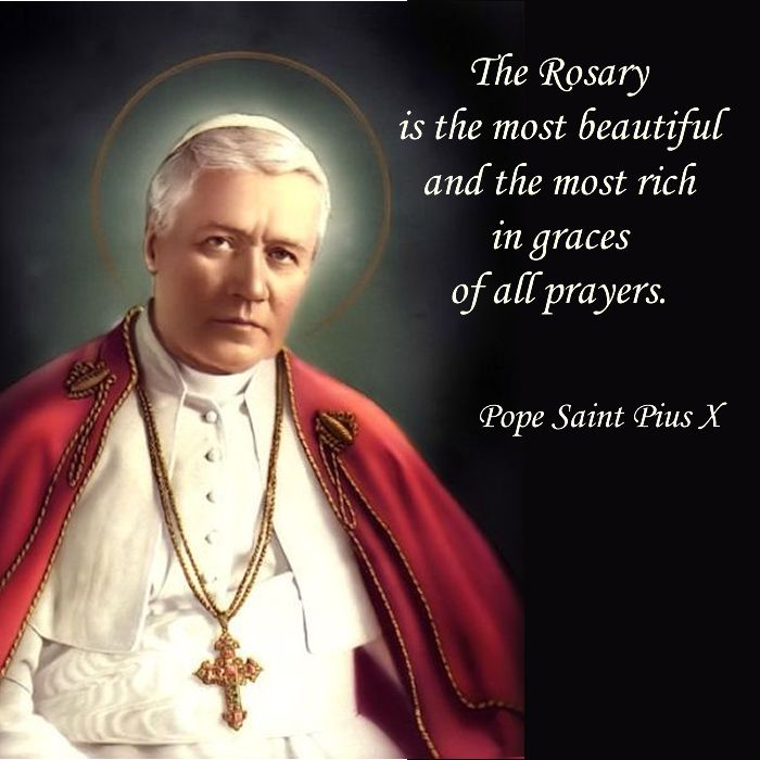 The Rosary is the most beautiful and the most rich in graces of all prayers.