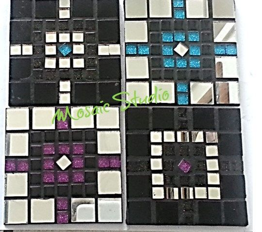 Mosaic Square Coasters Galactic - Kit-Set by MosaicStudio1 on Etsy