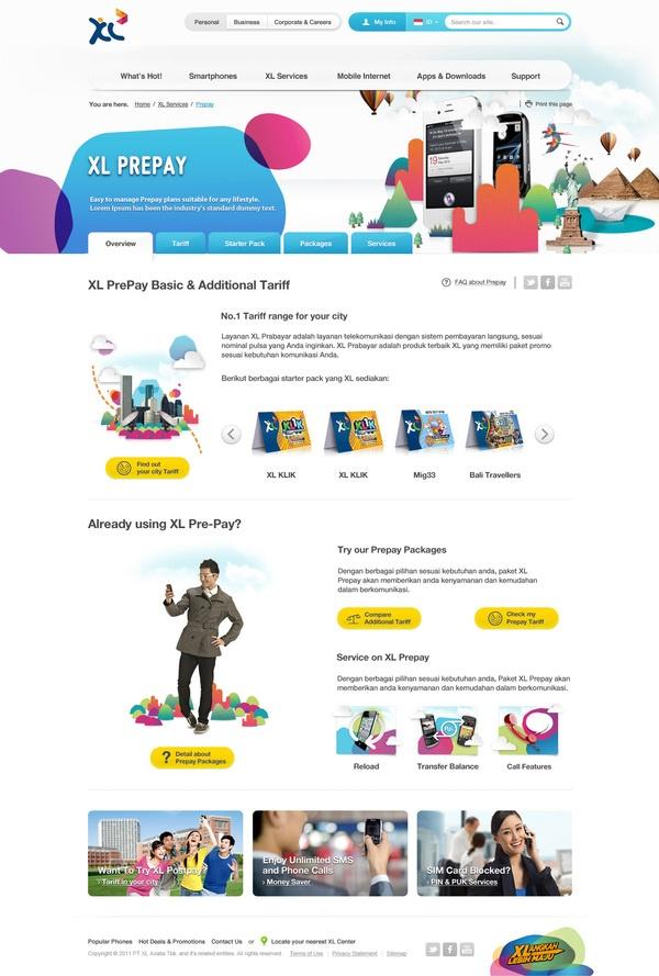 Web Portal for XL Axiata by Dewanza Mohammad, via Behance @XL Axiata #PINdonesia