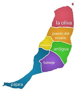 tour fuerteventura, fuerteventura map