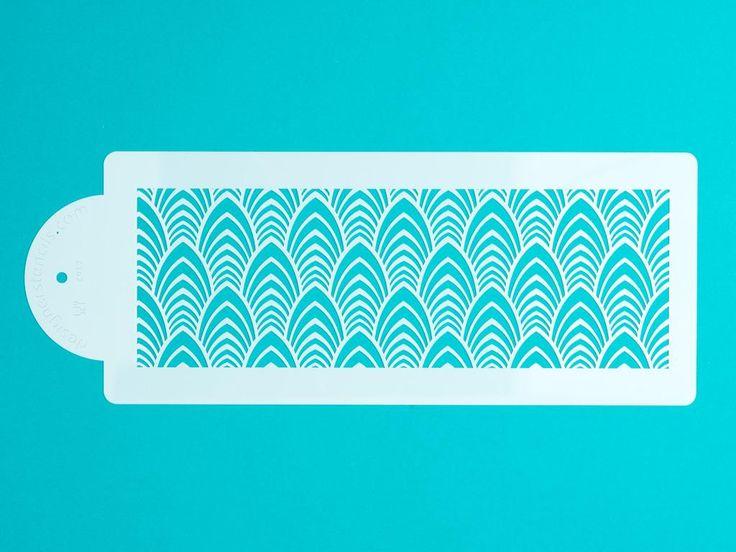 Designer Stencils Martha Stewart Wedding Art Deco Stencil - None