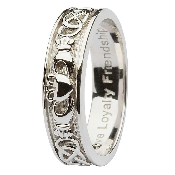 17 Best Silver Claddagh Rings Images On Pinterest