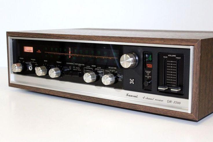 Sansui QR-1500 Vintage 4 Channel Receiver Hi-Fi Separate Phono Amplifier - MINT