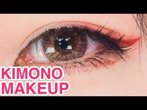 Kawaii MAKEUP TUTORIAL for Kimono by Japanese model Yui Minakata | 皆方由衣の...