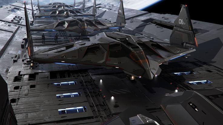 Aegis Eclipse Stealth Bomber - flight line
