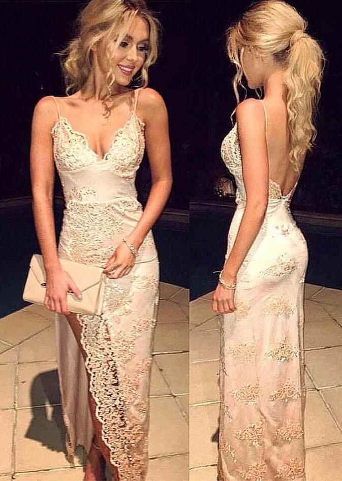 Lace Mermaid Prom Dresses, Sexy Spaghetti Straps Prom Dresses, Backless Lace Prom Dress,Long Prom Dresses,Charming Prom Dresses,Evening Dress, Prom Gowns, Formal Women Dress,prom dress