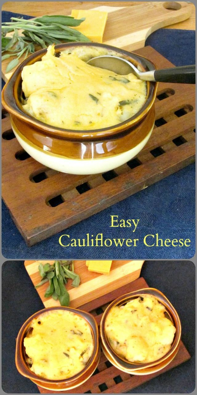 Easy Cauliflower Cheese comes together quickly, with this fast and easy cheese sauce. A simple way to dress up a meal!