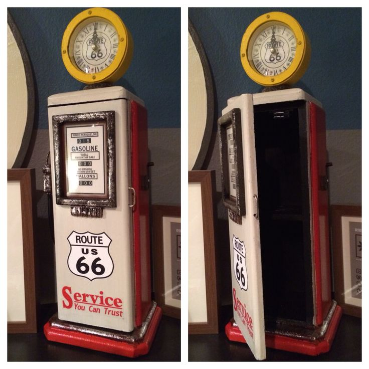 Adorable Find From HomeGoods! Clock And Cupboard Combo Inspired By A  Vintage Gas Pump.