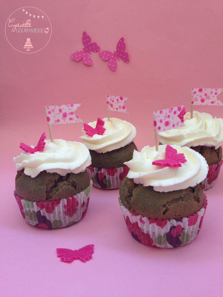 Green Cupcake à la spiruline   Cyrielle Gourmandise