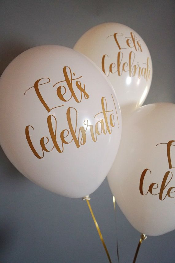 Hand lettered Calligraphy Balloons Set of 3 by LolasConfettiShop