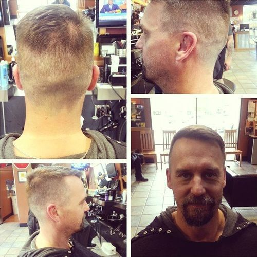 tapered haircut for men with thinning hair