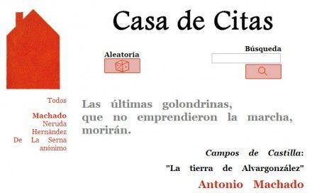 Casa de Citas, guía de citas y frases célebres de la literatura en español