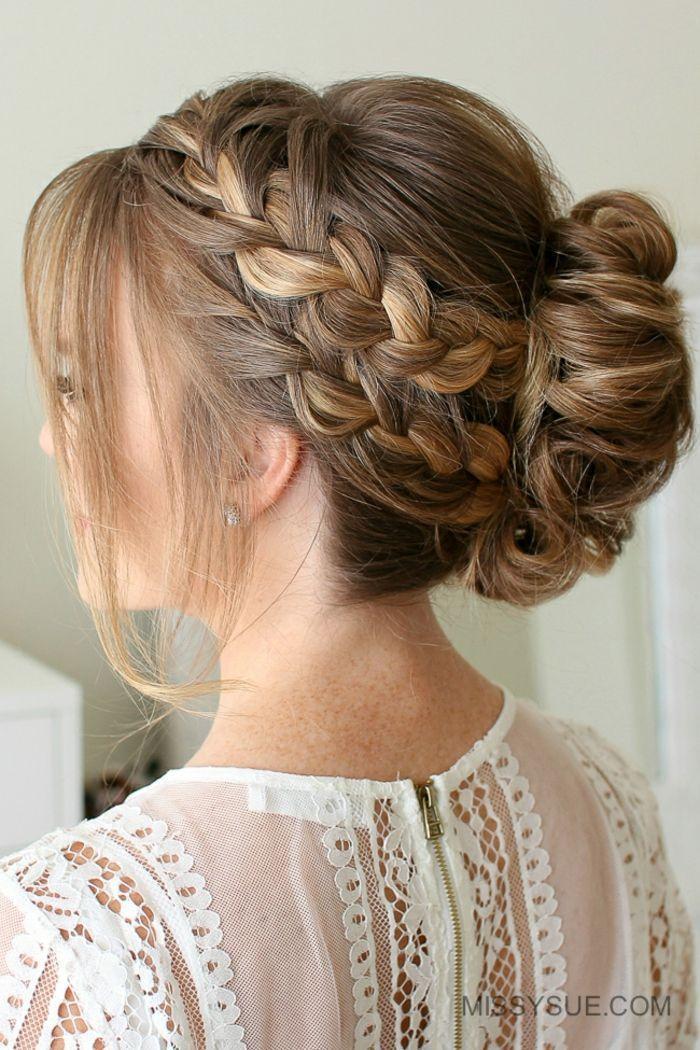 1001 Festliche Frisuren Zum Inspirieren Und Umformulieren Festiv Frisur Festiv In 2020 Frisur Hochgesteckt Mittellange Haare Frisuren Einfach Festliche Frisuren