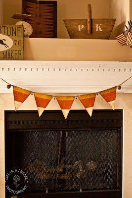 Candy Corn Banner- surely I could manage this??