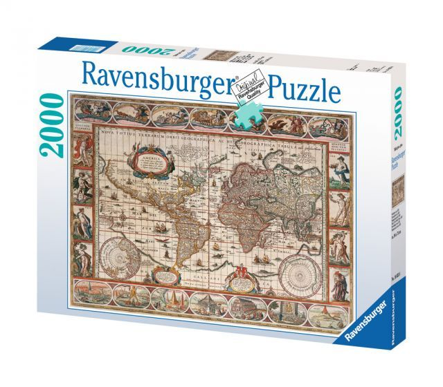 Ravensburger Puzzle 2000pc - Map Of World From 1650