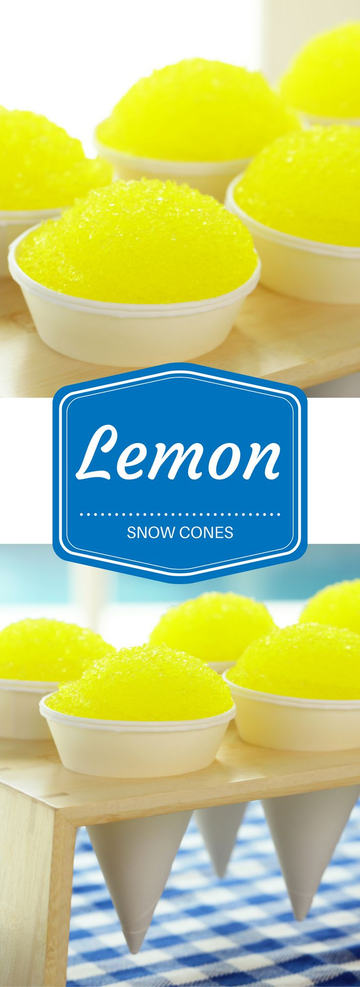 "These Lemon Snow cones are the cutest idea for summer. This is a recipe from Nerdy Nummies inspired by the Monsters Inc. scene when the abominable snow man is trying to cheer up Mike Wazowski - ""Don't worry, they're LEMON!"""