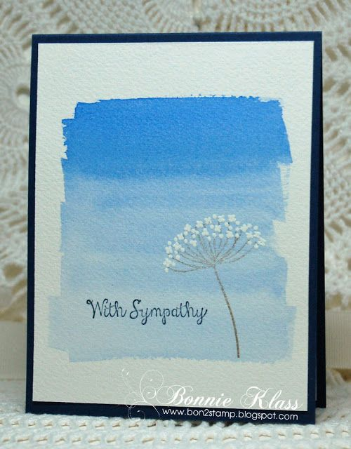 Watercolor Washed Background sympathy card by Bonnie Klass
