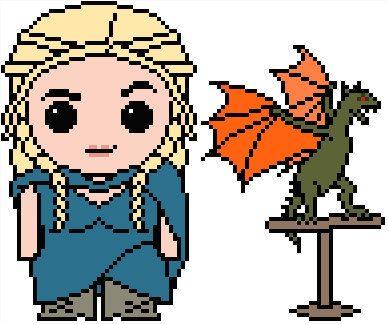 Game of Thrones: Daenerys Targaryen and Dragon PDF Chart Pattern