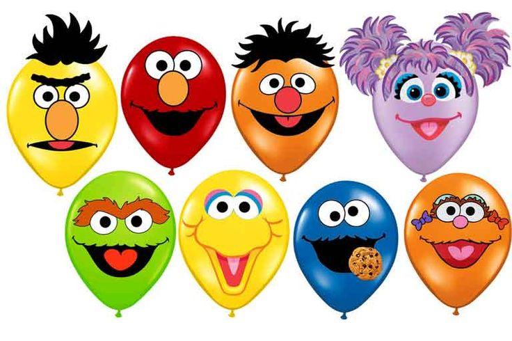 sesame street character face balloons