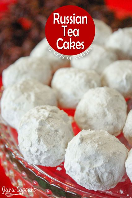 Russian Tea Cakes - These buttery, melt-in-your-mouth Russian Tea Cakes cookies can be prepared many ways… but they're always made with nuts and rolled twice in powdered sugar and are extremely delicious! | JavaCupcake.com